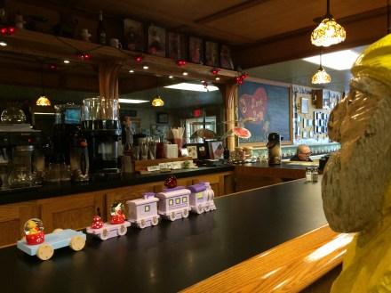 Captain Ahab of Ahab's Adventures having an amazing breakfast at Babalu Cafe in Jamestown, New York 2016