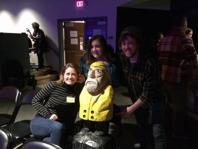 Captain Ahab of Ahab's Adventures having a great time meeting new friends at 3S Artspace in Portsmouth New Hampshire 2016