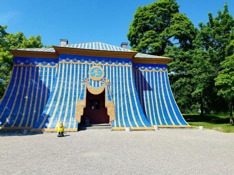 Captain Ahab of Ahab's Adventures at The Copper Tents inside Hagaparken in Stockholm Sweden 2016