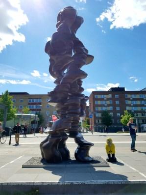 Captain Ahab of Ahab's Adventures outside Uppsala Train Station Uppsala Sweden 2016