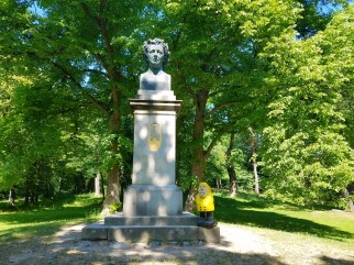 Captain Ahab of Ahab's Adventures exploring Djurgarden in Stockholm Sweden 2016