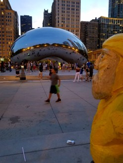Captain Ahab of Ahab's Adventures checking out the Cloud Gate aka The Bean in Millennium Park in Chicago Illinois 2016