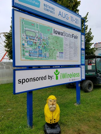 Captain Ahab of Ahab's Adventures exploring the Iowa State Fair 2016