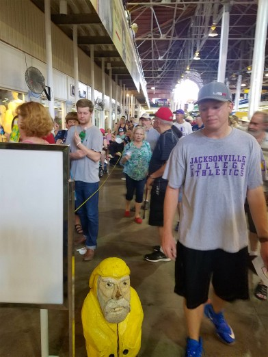 Captain Ahab of Ahab's Adventures figuring out how to skip the Butter Cow line at the Iowa State Fair 2016