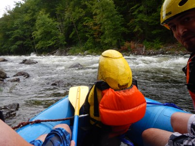 Captain Ahab of Ahab's Adventures white water rafting the Dryway with Zoar Outdoor 2016
