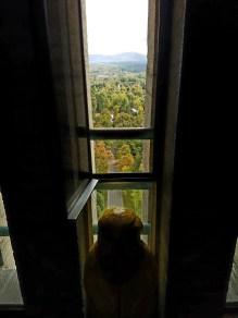 Captain Ahab of Ahab's Adventures enjoying the view at the Bennington Battle Monument Vermont 2016