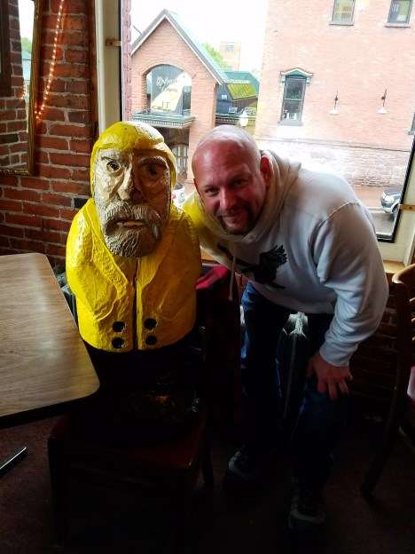 Captain Ahab of Ahab's Adventures exploring the Vierling Restaurant & Marquette Harbor Brewery in Marquette Michigan 2016