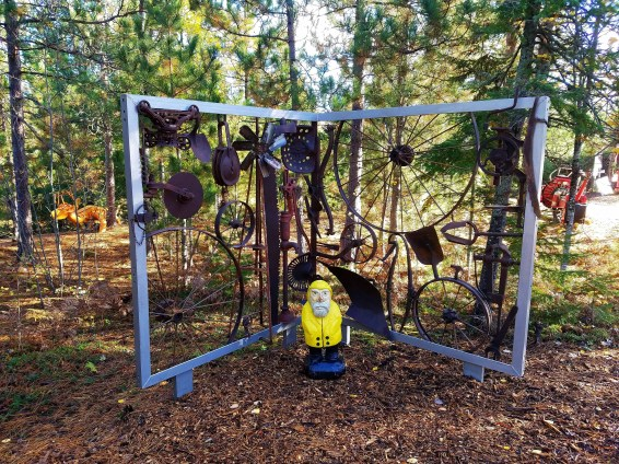 Captain Ahab of Ahab's Adventures exploring Lakenenland Sculpture Park Marquette Michigan 2016