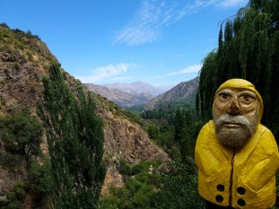 Captain Ahab of Ahab's Adventures at el santuario de la naturaleza de la Cascada de Las Aaimas Chile 2016