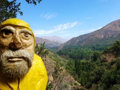 Captain Ahab of Ahab's Adventures at el santuario de la naturaleza de la Cascada de Las Aaimas Chile 2016