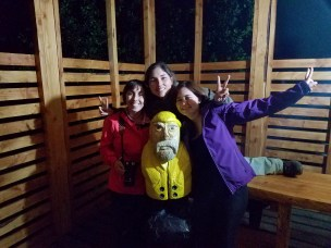 Captain Ahab of Ahab's Adventures making new friends in Patagonia Chile 2017