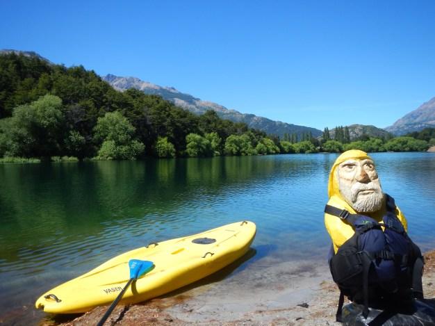 Captain Ahab of Ahab's Adventures having so paddlebaord fun Futaleufu Chile 2017