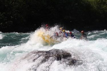 Captain Ahab of Ahab's Adventures rafting the waters of Futaleufu Chile 2017