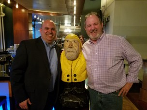 Captain Ahab of Ahab's Adventures at the TEDxAkron after-party making friends 2017