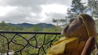 Captain Ahab of Ahab's Adventures relaxing at the Peace Lodge & La Paz Waterfall Gardens Alajuela Costa Rica 2018