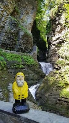 Captain Ahab of Ahab's Adventures admiring Watkins Glen State Park New York 2019