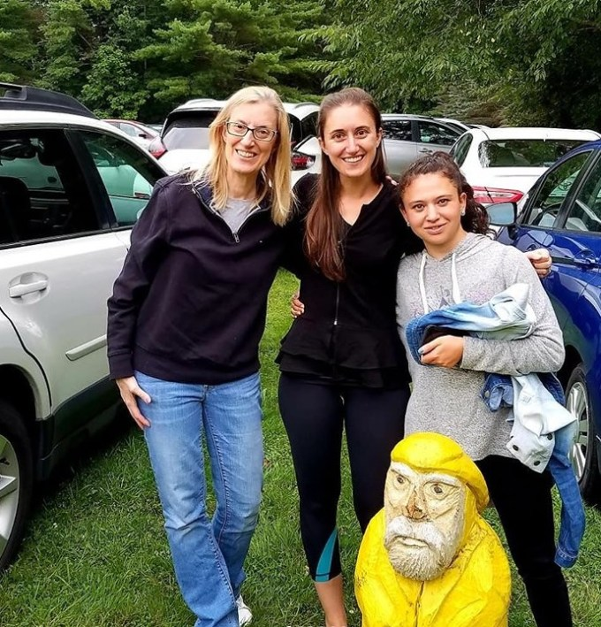Captain Ahab of Ahab's Adventures making new friends at Tanglewood Massachusetts 2019