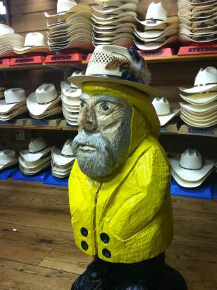 Captain Ahab of Ahab's Adventures at Allens Boots in Austin Texas 2013