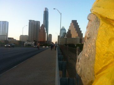 Captain Ahab of Ahab's Adventures at the Congress Avenue Bridge in Austin Texas 2013