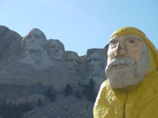 Captain Ahab of Ahab's Adventures at the Mount Rushmore National Memorial 2009