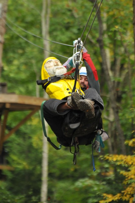 Captain Ahab of Ahab's Adventures with IWYS at Zoar Outdoor Zip Lining 2010