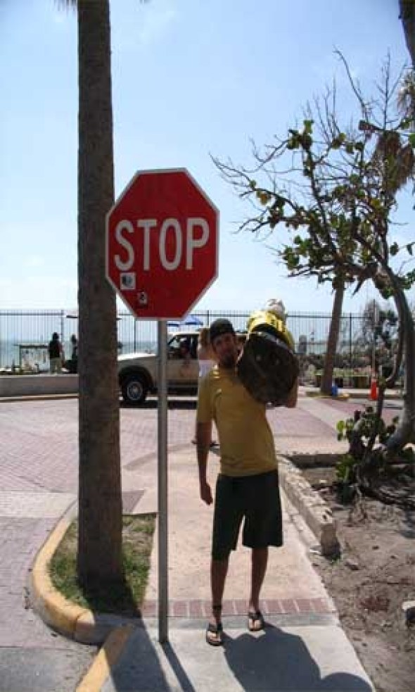 Captain Ahab of Ahab's Adventures at the Southern Most Stop Sign USA 2006