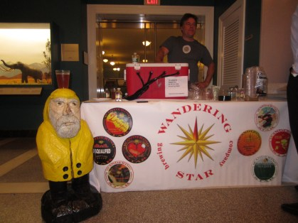 Captain Ahab of Ahab's Adventures at the Pecka Kucha Talks in Pittsfield Massachusetts 2012
