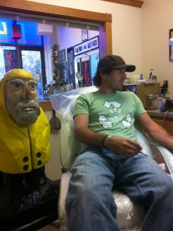 Captain Ahab of Ahab's Adventures branding his 1st Mate at Living Art Studio in Northampton Massachusetts 2011