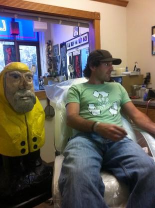 Captain Ahab of Ahab's Adventures branding his 1st Mate at Living Art Studio in Northampton Massachusetts 2011