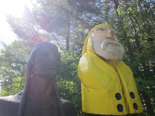 Captain Ahab of Ahab's Adventures traveling Route 2 in Massachusetts 2015