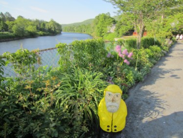 Captain Ahab of Ahab's Adventures at the Bridge of Flowers in Shelburne Falls Massachusetts 2015