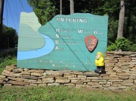 Captain Ahab of Ahab's Adventures entering the Delaware Water Gap National Recreational Area of Pennsylvania 2015