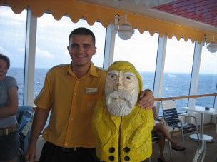 Captain Ahab of Ahab's Adventures on a cruise to the Bahamas on the Norwegian Dawn 2006