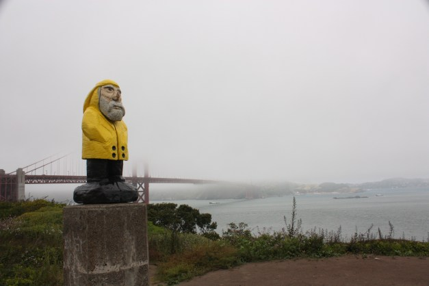 Captain Ahab of Ahab's Adventures at the Golden Gate Bridge in San Francisco California 2011