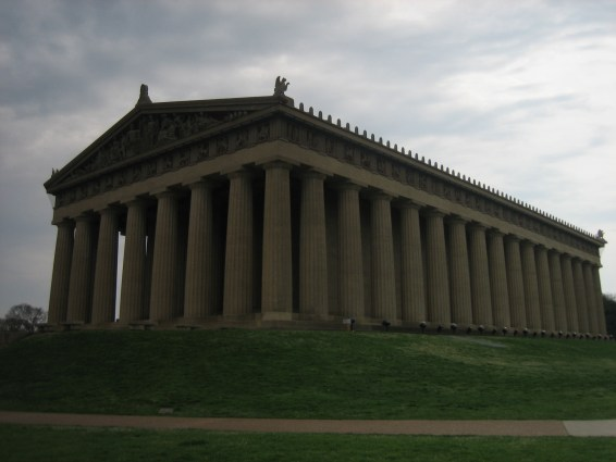 Captain Ahab of Ahab's Adventures visiting The Parthenon in Nashville Tennessee on his Cross Country Road Trip of 2006