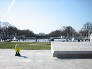 Captain Ahab of Ahab's Adventures at the World War II Memorial in Washington D.C. 2011