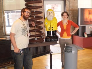 Captain Ahab of Ahab's Adventures visiting Mass MoCA 2010
