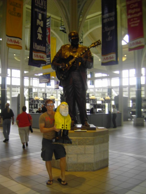 Captain Ahab of Ahab's Adventures with B.B. King in Memphis Tennessee on his Cross Country Road Trip of 2006