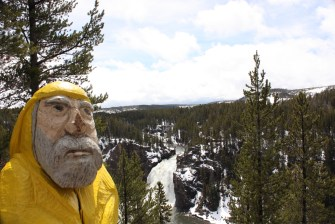 Captain Ahab of Ahab's Adventures at Upper Falls in Yellowstone National Park 2011