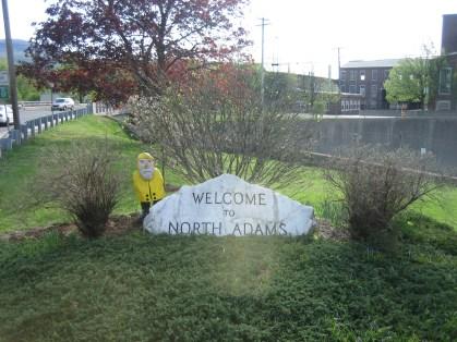 Captain Ahab of Ahab's Adventures entering North Adams Massachusetts 2015