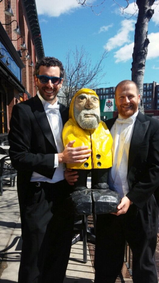 Captain Ahab of Ahab's Adventures with the hosts of the Boston Urban Iditarod 2015