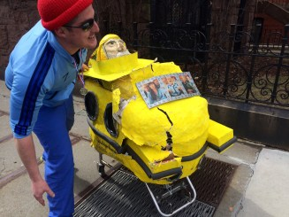 Captain Ahab of Ahab's Adventures with Team Zissou when we crashed at the Boston Urban Iditarod 2015