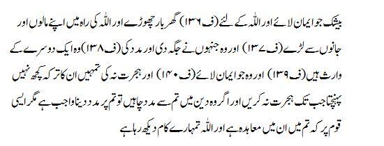Surah Al Anfal Translation Of Quran In Urdu From Kanzul Iman