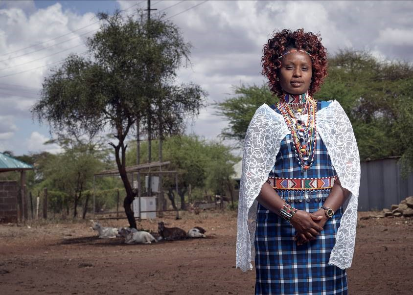 A local community health worker in Kenya