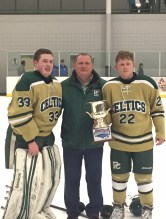 Head Coach Nick Iaciancio with his sons