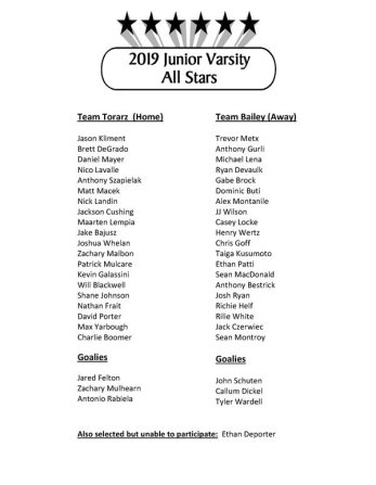 Junior Varsity All Stars