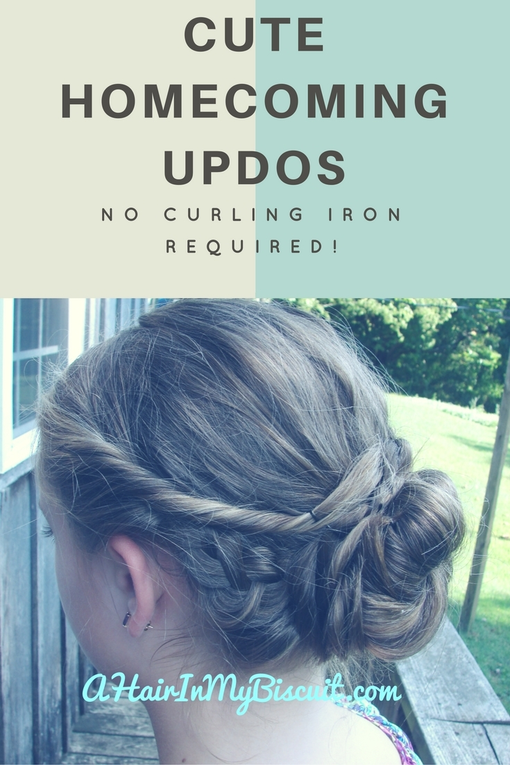 Cute Homecoming Updos | No Time? No Curling!
