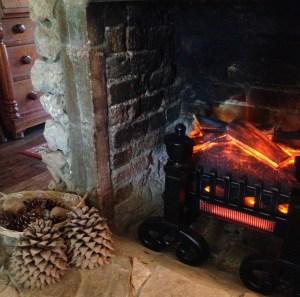 electric fireplace log sets