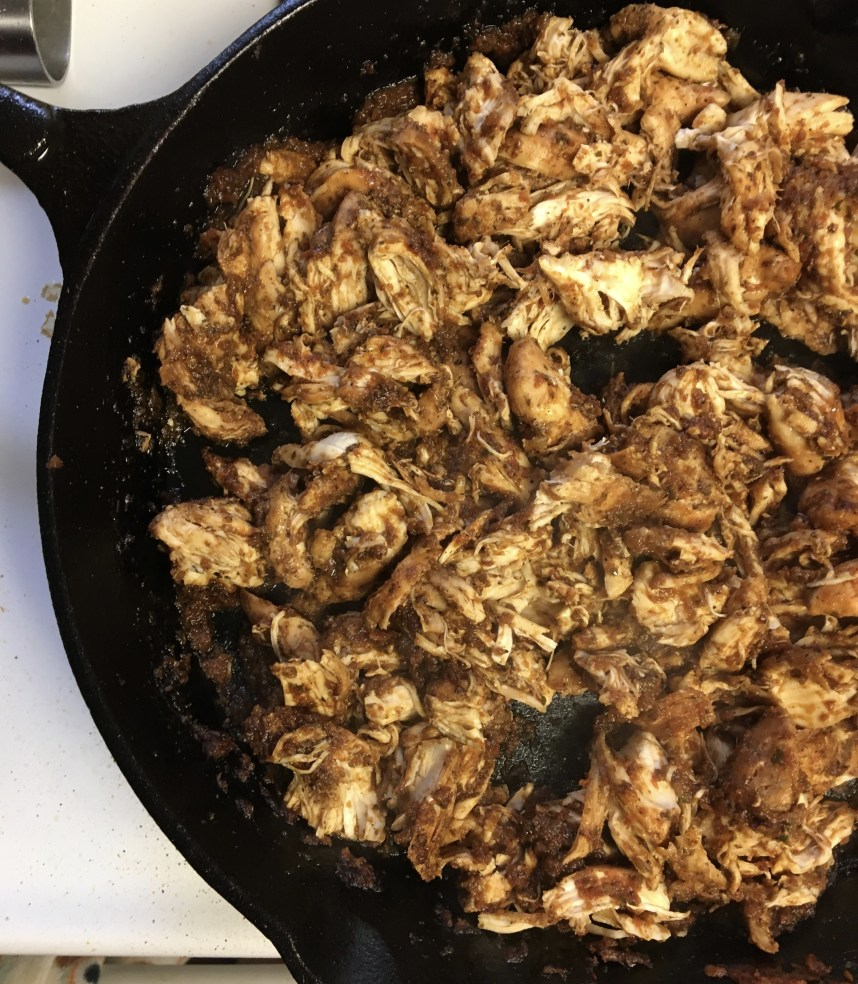 Mexican chicken for tacos
