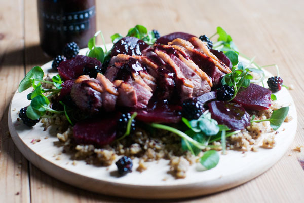 blackberry vinegar foraging blackberry season september blackberry salad duck salad grains beetroot